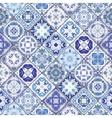 Seamless pattern of hexagonal mosaics vector image vector image