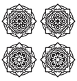 Set of four mandalas vector image vector image