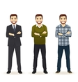 Set of man in different clothes vector image vector image
