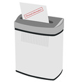 Shredder and text personal information vector image vector image