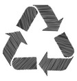 sketch doodle recycle reuse symbol isolated on vector image