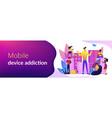 smartphone addiction concept banner header vector image vector image