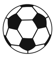 Soccer ball icon simple style vector image