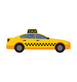 taxi car yellow color vector image