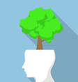 Tree on white head vector image vector image