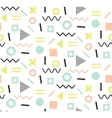 Trendy memphis cards Abstract seamless pattern vector image