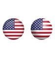 united states america flag under 3d dome vector image vector image