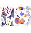 universal trend geometric shapes set vector image vector image