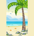 vertical cartoon tropical nature background for vector image vector image