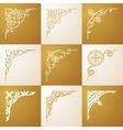 Vintage design elements Corners set vector image