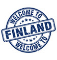 welcome to finland blue round vintage stamp vector image vector image