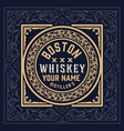 whiskey label vintage design retro vector image vector image