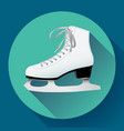 white classic ice figure skates icon sport vector image