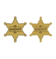 Wild west sheriff star Color vector image vector image