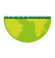 world planet grass eco icon vector image vector image