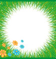 wreath and green meadow grass vector image vector image