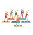 yoga fitness classes instructor trainer isolated vector image