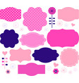 Retro paper patterned colorful tags vector image