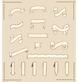 Set of ribbons and tags vector image