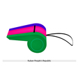 A Whistle of The Kuban Peoples Republic vector image