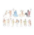 ancient greek gods set concept vector image
