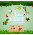 animal crossword puzzles for kids games vector image vector image