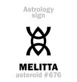 Astrology asteroid melitta