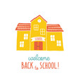 back to school card design funny cartoon hand vector image