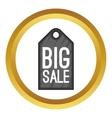 Big sale tag icon vector image