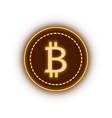 bitcoin cryptocurrency sign vector image vector image