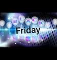 black friday sale background for banner menu vector image vector image