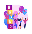 brand event abstract concept vector image vector image