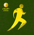 Brazil summer running sport card with an yellow ab vector image