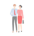 business couple in strict cloth isolated vector image vector image