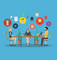 business meeting concept in flat design vector image vector image