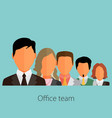 business people group color profile human vector image vector image