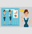business woman character on transparent background vector image vector image