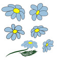 camomile set white daisy chamomile icon cute vector image