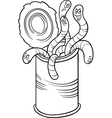 can of worms saying cartoon vector image vector image