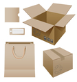 cardboard products vector image vector image