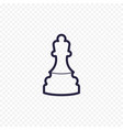 chess line icon game chess figure thin linear vector image vector image