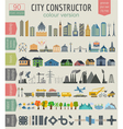 City map generator Elements for creating your vector image vector image