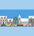 cityscape horizontal poster vector image vector image