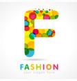 colored f fashion logo concept vector image