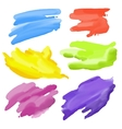 colorful Abstract Watercolor elements for design vector image vector image