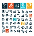 communication web icons set vector image vector image