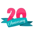 Cute Template 20 Years Anniversary Sign vector image vector image