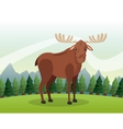 Deer icon Landscape background graphic vector image