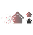 dissipated pixel halftone base building icon vector image vector image