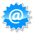 Email blue icon vector image vector image